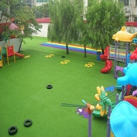 What kind of artificial turf is suitable for kindergarten